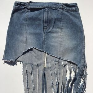 Womens Skirt Jean Size 2 Blue Jean, Boho, Hippy,